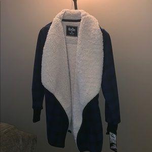 Fuzzy Plaid Teddy Jacket NWT